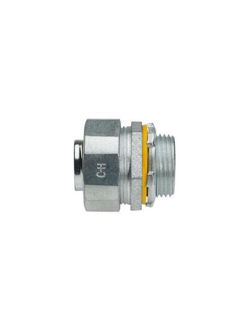Crouse-Hinds Series LT100G 1 Inch Malleable Iron Non-Insulated Straight Liquidtight Conduit Connector