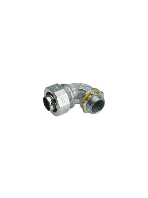Crouse-Hinds Series LT10090G 1 Inch Malleable Iron Non-Insulated 90 Degrees Liquidtight Conduit Connector