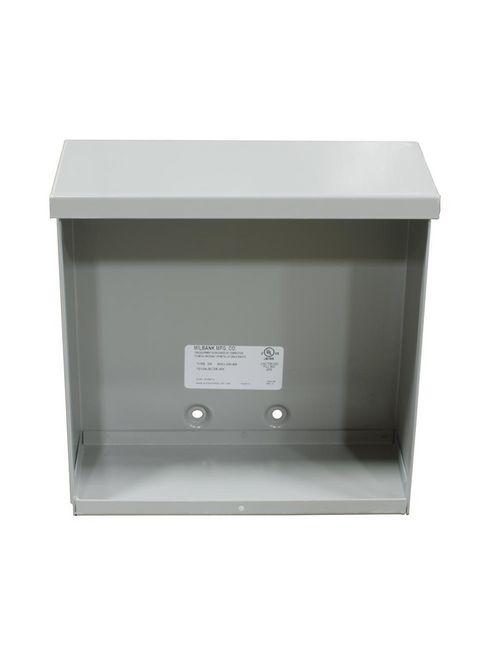 Milbank 10118 12124-SC3R-NK 12 x 12 x 4 Inch NEMA 3R Gray Polyester Powder Coated G90 Galvanized Steel Screw Cover Junction Box