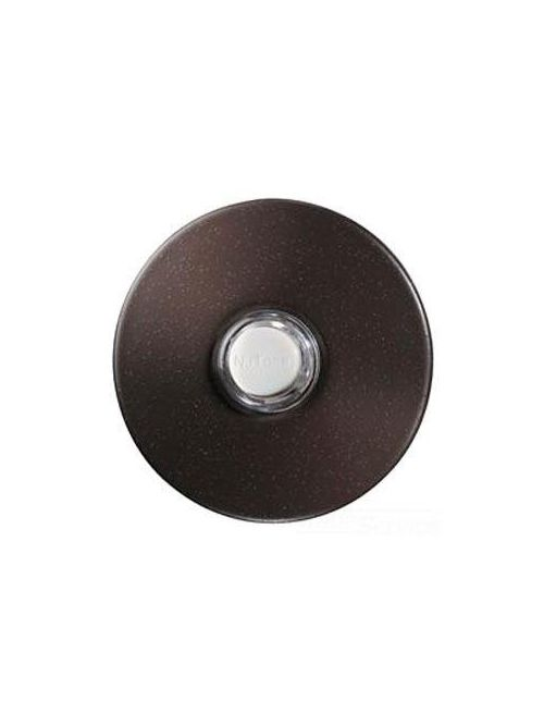 Broan PB41LBR NUTONE 2-1/4 Inch Finish Oil-Rubbed Round Wired/Wireless Push Button