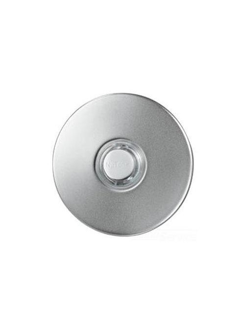 Broan PB41LSN 2-1/2 Inch Satin Nickel Door Chime Lighted Push Button