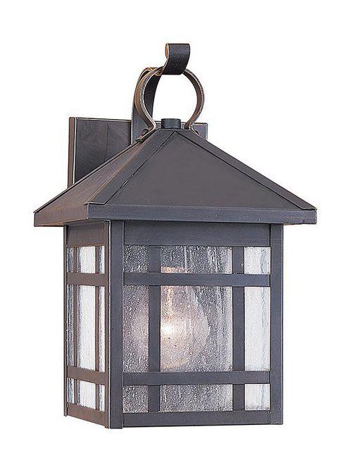 Sea Gull Lighting 85008-71 1-Lamp 8/13.5/100 W 120 Volt Antique Bronze Medium A19 Wall Mount Light Fixture