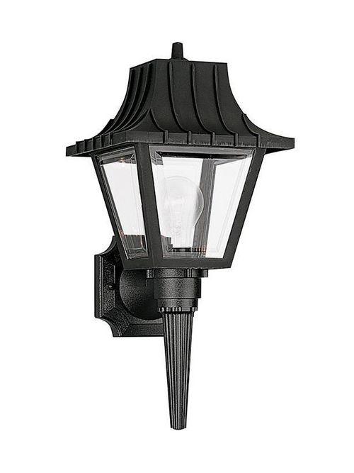 Sea Gull Lighting 8720-32 1-Lamp 8/13.5/60 W 120 Volt Black Medium A19 Wall Mount Light Fixture