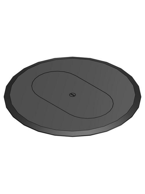 Steel City P-68-DRC-BLK Non-Metallic Black Duplex Receptacle Cover