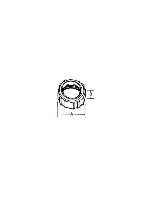 Steel City BI-901 1/2 Inch Rigid/IMC Iron-Zinc Plated Insulated Bushing