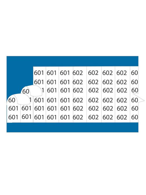 "EZCode WC2S 25/Card 1-1/2 Inch Vinyl Cloth ""2"" Wire Marker Card"