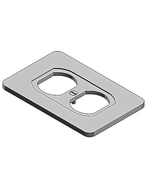 Thomas & Betts DS23-TB 1-Gang FS/FD Duplex Receptacle Cover