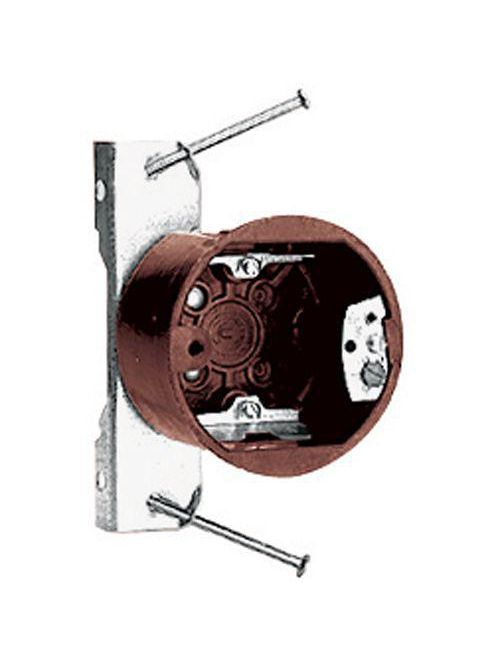 Carlon 3090-N-40 3-1/2 Inch Round Outlet Box 13.5 In3 with Nail-On