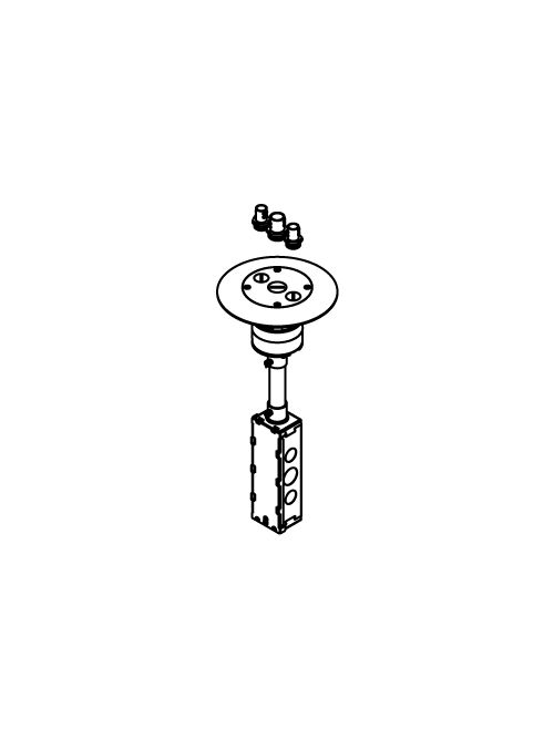Wiremold RC7AFFTCGY 16-1/2 Inch Gray Flush Furniture Feed Poke-Through Assembly