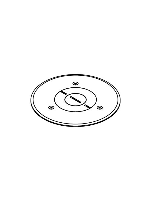 """Wiremold 896PCK-BLK 5-1/2"""" Black Polycarbonate Floor Box Communication or Power Cover Plate"""
