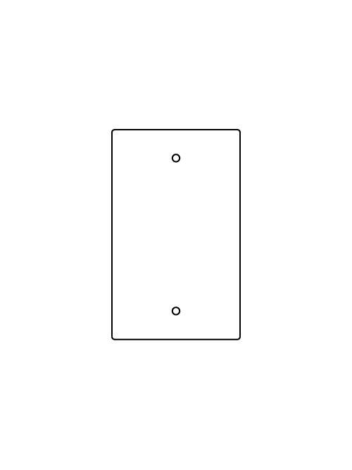 WM RFB119-B 1-GANG BLANK DEVICE PLA