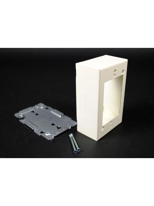 Wiremold WH2048 2000 Steel White Switch and Receptacle Box