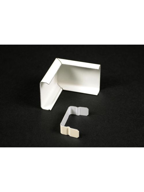 """Wiremold V2018C 1-7/8"""" Ivory Steel External 1-Channel Elbow Cover"""