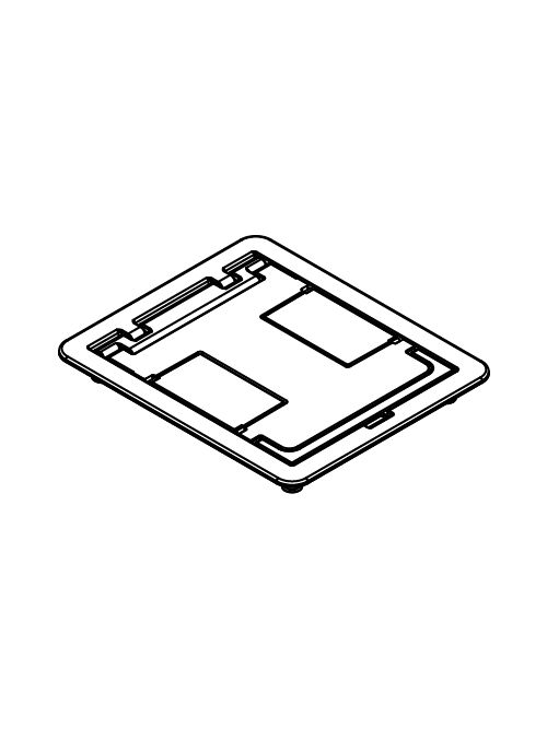 Wiremold FPBTCBK 6-1/2 x 7-3/4 Inch Black Die-Cast Aluminum Floor Box Blank Cover Assembly