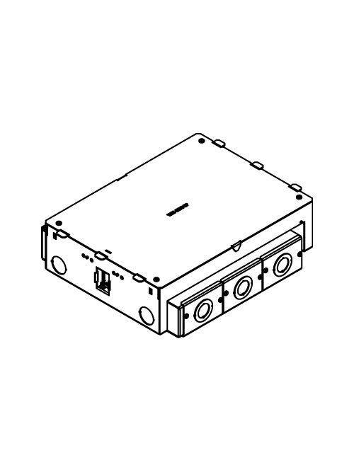 Wiremold EFB6S 15-1/8 x 11-3/16 x 4-1/16 Inch 6-Gang Rectangular Steel Floor Box