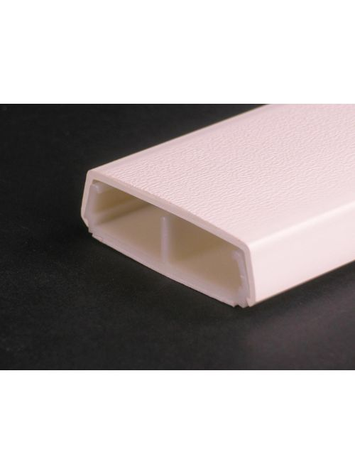 Wiremold 2300BACD 5 Foot x 2-1/4 x 11/16 Inch Ivory Non-Metallic 1-Channel Raceway Divided Base and Cover