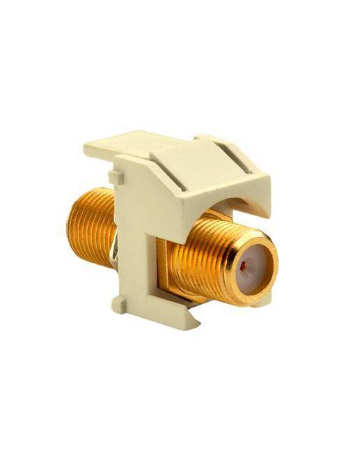 On-Q WP3480-LA Light Almond Plastic Recessed Gold F-Video Insert