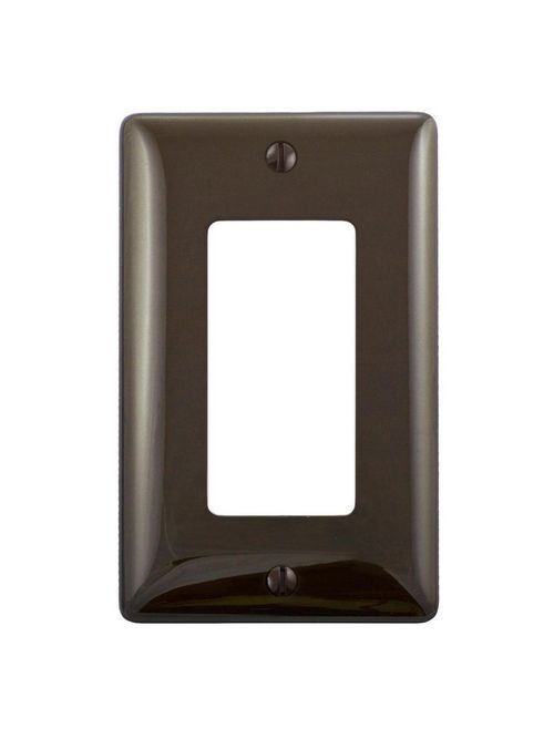 Hubbell Wiring Devices NP26 1-Gang Brown Nylon Standard 1-Decorator Switch Wallplate