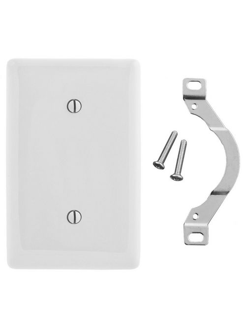 Hubbell Wiring Devices NP14W 1-Gang White Nylon Standard 1-Blank Strap Mount Wallplate