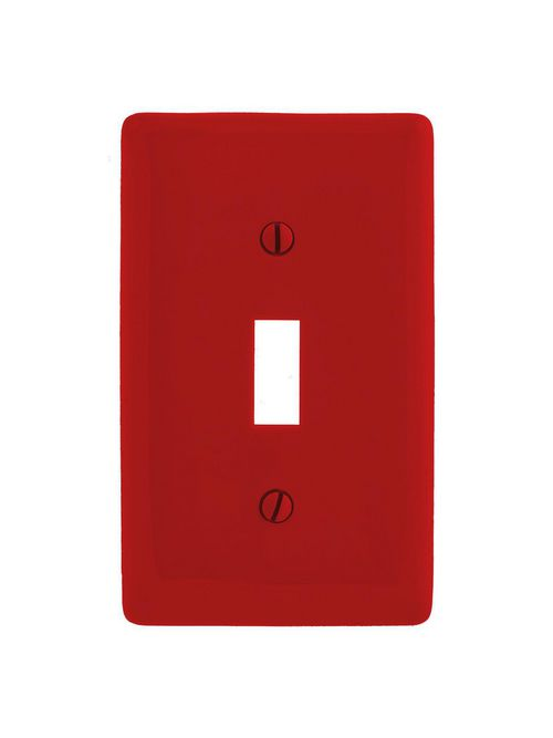 Hubbell Wiring Devices NPJ1R 1-Gang Red Toggle Mid-Size Wall Plate