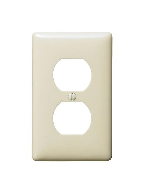 Hubbell Wiring Devices NP8AL 1-Gang Almond Nylon Standard 1-Duplex Receptacle Wallplate