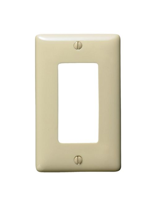 Hubbell Wiring Devices NP26I 1-Gang Ivory Nylon Standard 1-Decorator Switch Wallplate