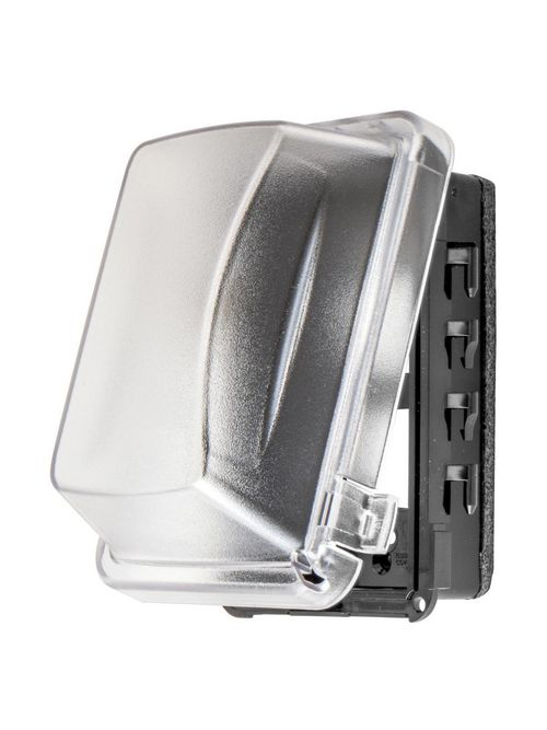 Hubbell Wiring Devices RW57300 1-Gang Gray Thermoplastic Duplex/GFCI/Toggle/Single Receptacle Weatherproof Cover