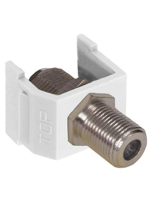 Hubbell Wiring Devices NSF70W White Nickel Plated Audio/Video Connector
