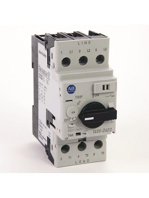 Allen Bradley 140U-D6D3-B40 UL 489 4 Amp 3-Pole Circuit Breaker