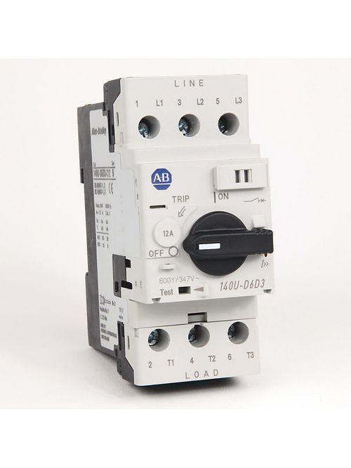 Allen Bradley 140U-D6D3-C12 UL 489 12 Amp 3-Pole Circuit Breaker