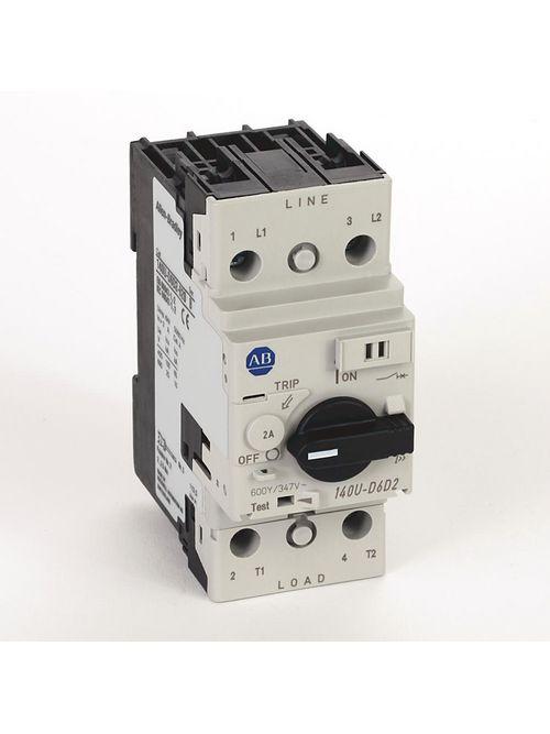 Allen Bradley 140U-D6D2-B20 UL 489 2 Amp 2-Pole Circuit Breaker
