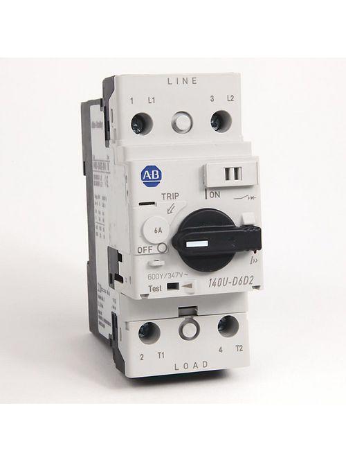 Allen Bradley 140U-D6D2-B60 UL 489 6 Amp 2-Pole Circuit Breaker