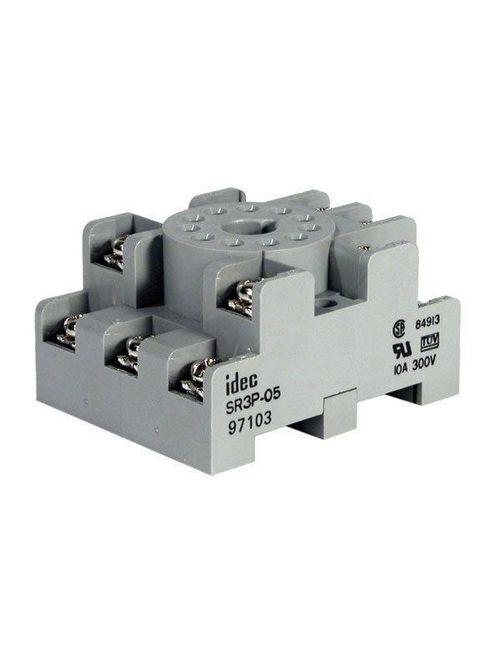 IDEC Corporation SR3P-05 3-Pole 11-Pin Screw Terminal Din Rail Mount Relay Socket