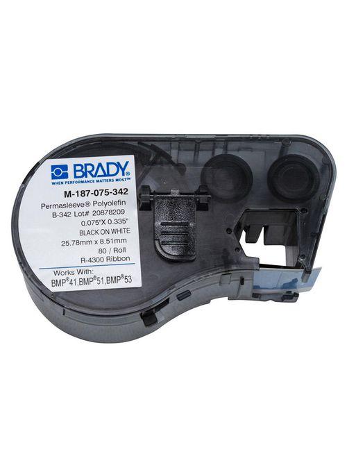 Brady M-187-075-342 80-Pack White 0.75 x 0.335 Inch Label Cartridge