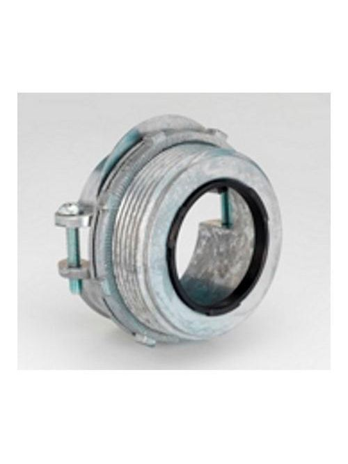 "Bridgeport 685-DCI2 1-1/2"" 2-Screw Strap Connector, Insulated Throat, Steel/Alum MC Cable, Zinc Die Cast"