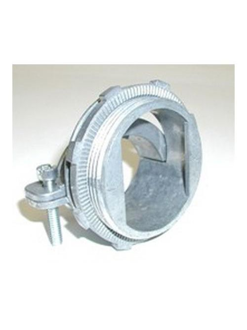 "Bridgeport 688-DCX2 3"" 2-Screw Strap Connector, Steel/Alum Interlocked Cable, Zinc Die Cast"