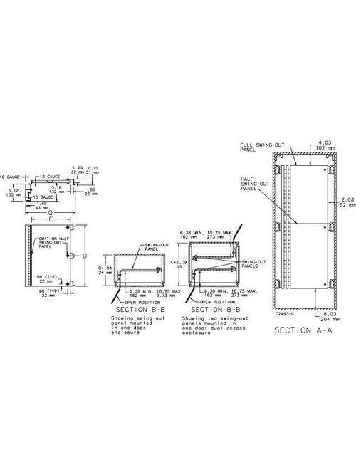 Hoffman A72SP30F4 30.88 x 25 Inch Half Panel