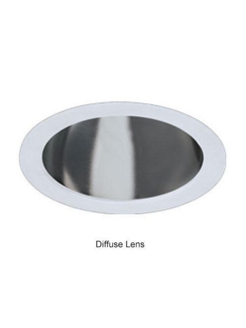 Hubbell Lighting 6CFHDL 6 Inch Clear Diffuser Compact Fluorescent Lamp Trim