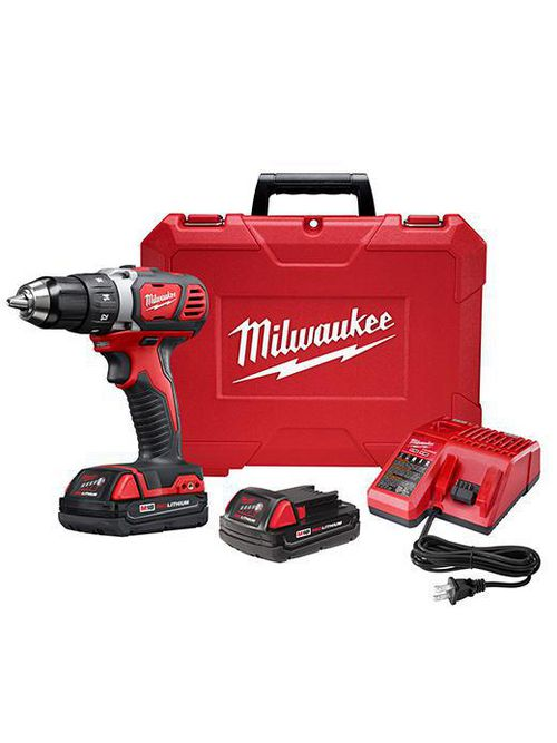 """Milwaukee 2606-22CT M18™ Compact 1/2"""" Drill Driver Kit w/ Compact Batteries"""