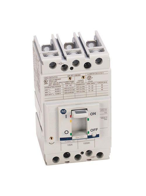 Allen Bradley 140G-G2C3-D11 125 Amp G-Frame Molded Case Circuit Breaker