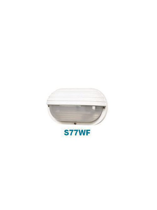 Adjust-A-Post S77WF-L11-WH 6 Inch 10.625 Inch White Frosted Ribbed Polycarbonate Lens Nautical Wall Light
