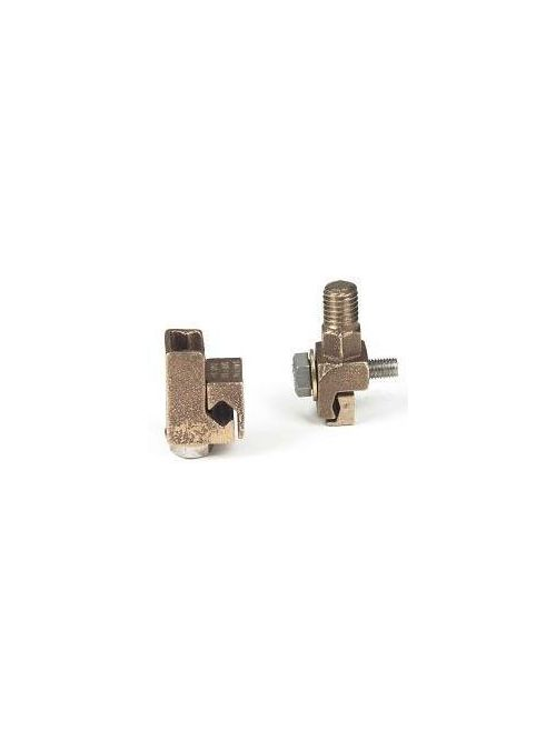 MacLean Power Systems BVC-2 0.81 x 0.93 Inch 2 AWG Bronze 1-Piece Vise Connector