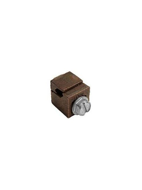 MacLean Power Systems BVC-20 0.8 x 1.03 Inch 1/0 AWG Bronze 1-Piece Vise Connector