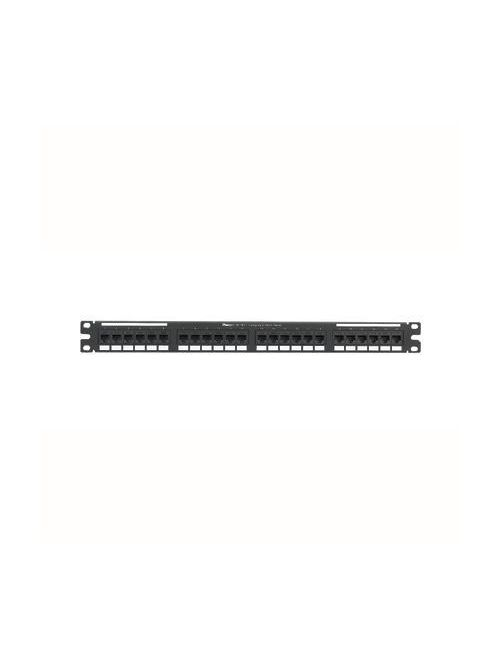 Panduit NK6PPG24Y 24-Port Category 6 Black Flat Punchdown Patch Panel