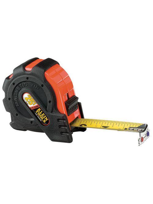 Klein Tools 916-25RE 1 Inch x 25 Foot Magnetic Tip Power Return Steel Rule