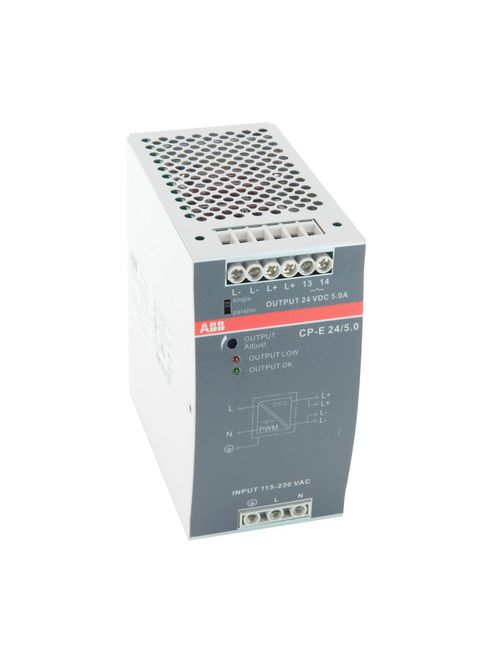 Thomas & Betts 1SVR427034R0000 90 to 132/180 to 264 VAC 210 to 375 VDC Input 24 VDC 5 Amp Output Power Supply