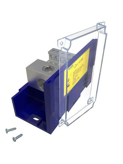 ILSCO LDA-112-350 310 Amp 600 Volt 14 to 4 AWG Electrotinned Aluminum Alloy Power Distribution Block