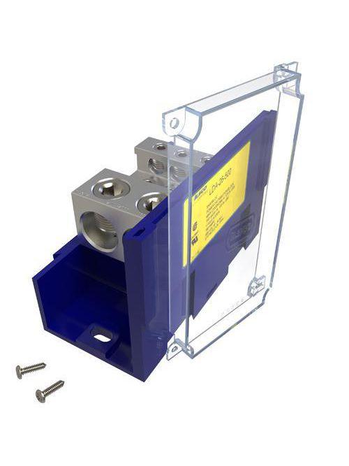ILSCO LDA-26-500 760 Amp 600 Volt 14 to 2/0 AWG Electrotinned Aluminum Alloy Power Distribution Block