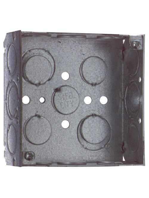 Steel City 521511234EWGBP 4 x 1-1/2 Inch 21 In Steel Welded Square Outlet Box