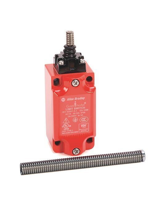Allen-Bradley 440P-MTAS11E 1NC 1NO Snap Acting Telescopic Arm 1/2 Inch Conduit Safety Limit Switch